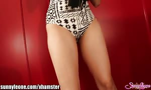 SunnyLeone FAN's personal striptease from my web cam